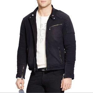 Polo Ralph Lauren Black Cotton Motorcycle Jacket